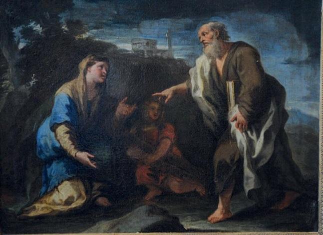 hannah présentant son fils samuel au grand prêtre eli by luca giordano