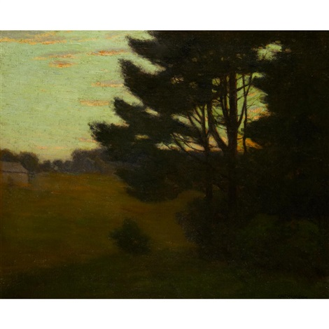 evening shadows by charles warren eaton