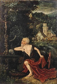 the penitent saint jerome by flemish school-bruges (16)
