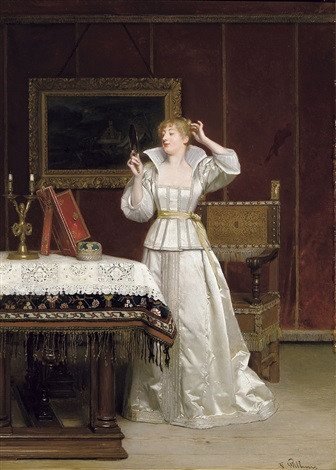 femme au miroir by florent willems