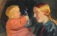 mother and child by anna kirstine ancher