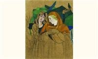 station viii, jésus console les filles de jérusalem (étude) by louis léon eugène billotey