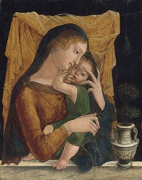 the madonna and child by liberale da verona