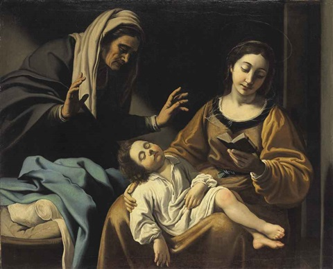 the madonna and child with saint anne by antiveduto grammatica