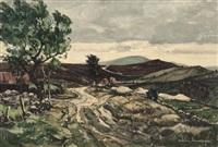 moors near llangollen by claude muncaster
