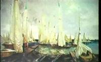 depart des regates by leonid melnikov