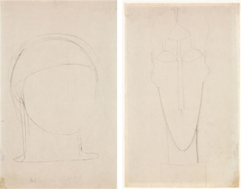 tête de femme recto verso by amedeo modigliani