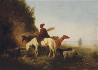 a caucasian on horseback by theodor ilich baikoff