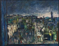 jerusalem at night by mordechai ardon
