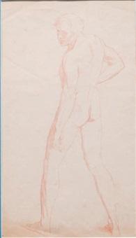 étude d'homme en mouvement (study) by jean-léon gérôme