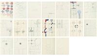 drawings (19 works) by kim whan-ki