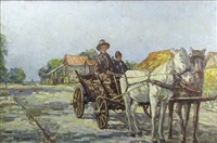 cart with horses by partog vartanian