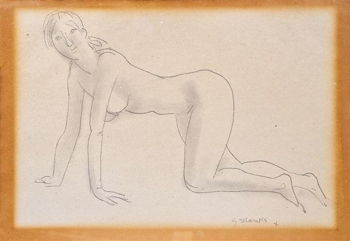 kniender weiblicher akt by gerhard marcks