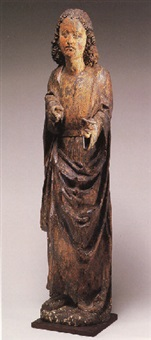 a standing male saint (st. john?) by hans leinberger