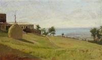 paesaggio a castiglioncello by eugenio cecconi