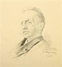 portrait of he danish author and dramatist otto benzon by peder severin krøyer