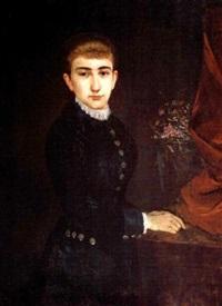 portrait of helen levidis by polychronis lembessis