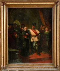 luther et georges de freusberg à worms by pierre-antoine labouchere