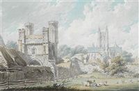 st. augustine's gate, canterbury by edward dayes