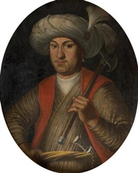 portrait d'un officier de l'armée du sultan by french school (18)