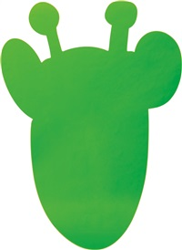 giraffe (light green) by jeff koons