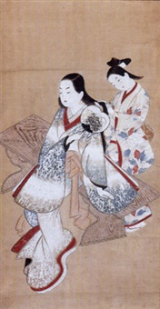 bijin cooling off in summer by japanese school-ukiyo-e (18)