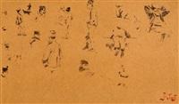 szkice postaci - kartka ze szkicownika by julian falat