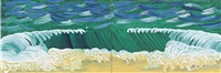 green tide (in 2 parts) by david hockney