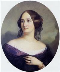 portrait d'adèle de chassepot, marquise de therisy by bernard pégot