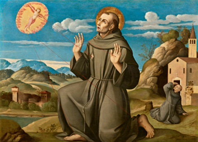 der heilige franziskus empfängt die stigmata san francesco che riceve le stigmate by girolamo da santacroce