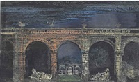 sketch for the set of don giovanni by john piper