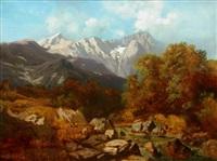 pejzaż górski by ludwig correggio