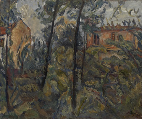 landscape with houses by chaïm soutine