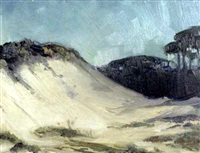 moonlight, carmel dunes by arthur j. hammond