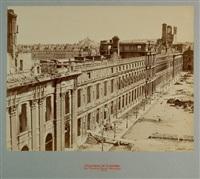 les tuileries façade principale from désastres de la guerre series by jean victor andrieux