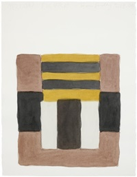 yellow figure by sean scully