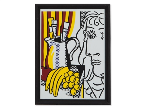 still life with picasso from hommage à picasso by roy lichtenstein