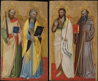 saints peter and paul (+ saints john the baptist and benedict; 2 works) by niccolò di tommaso