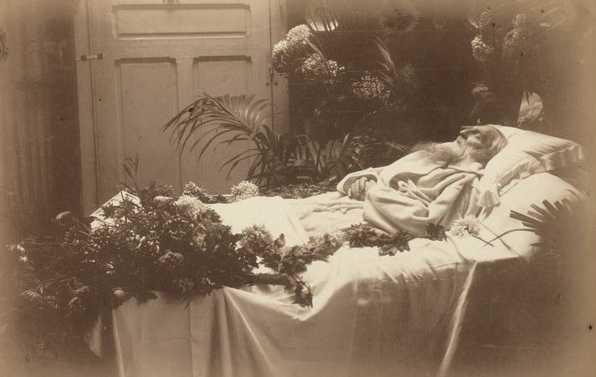 auguste rodin lartiste sur son lit de mort by p choumoff