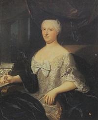 portrait de madame de barrigue de fontainieu, née de gauthier d'eguines, nièce de joseph marie roch by claude arnulphy