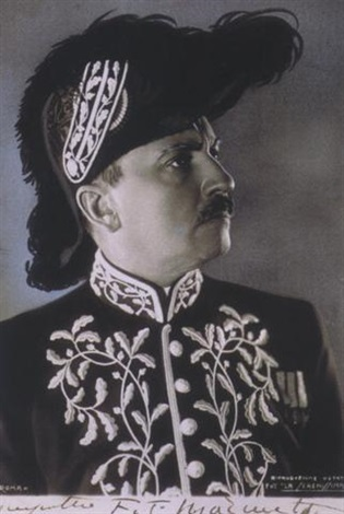 portrait de ft marinetti en costume dacadémicien by filippo tommaso marinetti