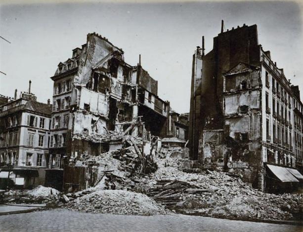 la commune ruines de paris et de ses environs 9 works by alphonse liebert