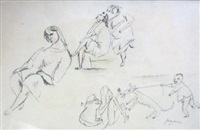 personnages by jules pascin