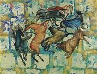 horses and bulls by khaled al-rahhal