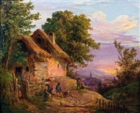 abendstimmung am land by eduard ritter