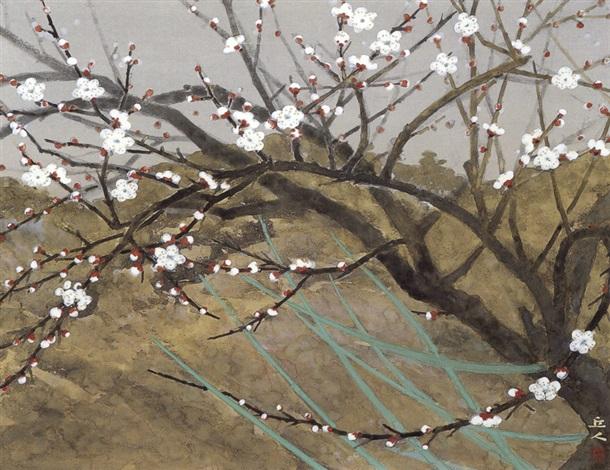 plum blossoms by kyujin yamamoto