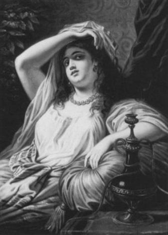 portrait of an arabian maiden by marcel johann von zadorecki