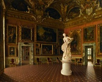 the saturn room, palazzo pitti, florence by santi corsi