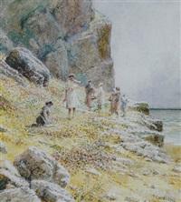 mujeres al borde del mar by tomas campuzano y aguirre