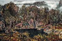autumn lake by hong ling